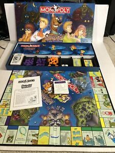Scooby Doo Monopoly Fright Fest Edition Collector Board Game COMPLETE 2000