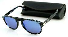 RARE New Genuine PERSOL Blue Havana Aviator Glass Lens Sunglasses PO 0649 1062O4