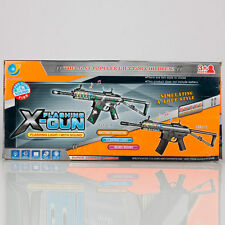 Z100201 Children's Electronic Music Gun Toy with Flashlight Black