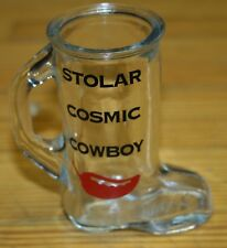 VINTAGE SHOT GLASS BOOT STOLAR COSMIC COWBOY OR TOOTH PICK HOLDER