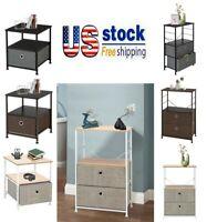 Fabric Drawer Dresser Storage Tower Closet Organizer Bedroom Nightstand Shelf
