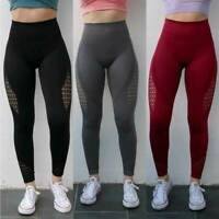 Women Seamless Sport Leggings Gym High-Waist Fitness Push Up Yoga Pants Trousers