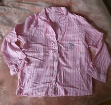 Victoria's Secret Pink Stripe Pyjama Top Shirt Size S Small