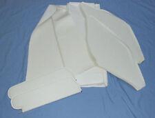 1970-72 cutlass 442  single post sun visors & headliner kit white non perforated