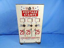 Vintage U.S. United States Postage Stamp Vending Machine Dispenser USPS No Key