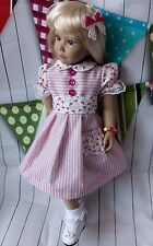 "handmade candy dress for 18"" doll fits Gotz or Kidz n Cats"