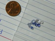 Sapphire 3.14 Carats Blue & White 11 Faceted Slight Natural Inclusions