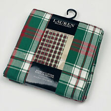 Ralph Lauren Holiday Christmas Plaid Red Green Fabric Shower Curtain