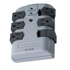 Belkin Pivot Plug Surge Protector 6 Outlets 1080 Joules Gray BP106000