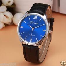 New Fashion Mens Retro Design Leather Stainless Steel Analog Quartz Wrist Watch