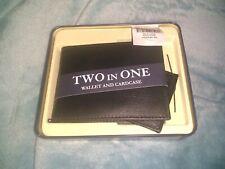 Mens Black Wallet 2-In-1 Billfold Bundle Originally $26 ~Brand New W/Tags~ Gift