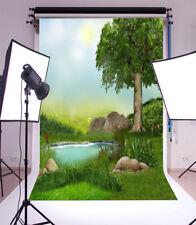 Green jungle creek Photo Backdrop Vinyl Studio Abstract Photography Backgrounds