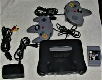 Working Nintendo 64 N64 Console with Memory Expansion 2 Controllers and game