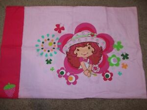 Strawberry Shortcake Doll Floral Cartoon Character Pillow Case {Fabric}