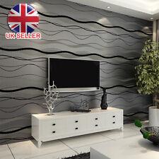 New 3D Stripe Curve Wall Paper Non-Woven Wallpaper Roll Bedroom Background Decor