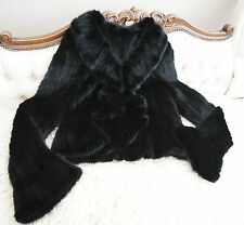 Ladies Quality Black Knitted Mink Fur Jacket 12