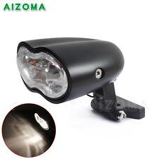 Motorcycle Metric Bikes Dual Headlight Headlamp Wave Halogen Oval Black Custom