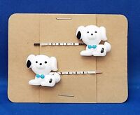 PUPPY Dog Animal - Handmade Bobby PIn Hair clips - Set of 2