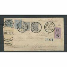 Nederland 35, paartje 38 op postwaardestuk naar München 1899  CV 68+ €