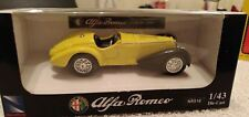 DIECAST MODEL NEW RAY SPORT CAR 1938 ALFA ROMEO 8C 2900 ITALIAN  CLASSIC  YELLOW