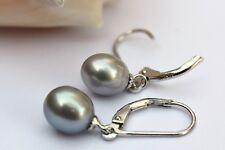 YR29G echte Süßwasser Perlen Schmuck Ohrringe Ohrstecker Ohrhänger 925 Silber