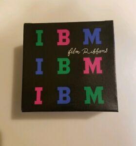Vintage IBM Film Ribbons Orig Box Quantity of 6 Carbon Ribbons Color Black
