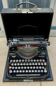 Wanderer-Werke AG Continental Typewriter With Carry Case QWERTZ Great Condition
