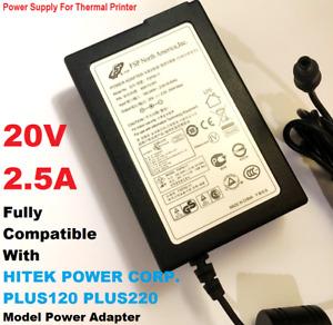 Fully Compatible Replacement for 20V HITEK PLUS120 PLUS220 Model, Power Adapter