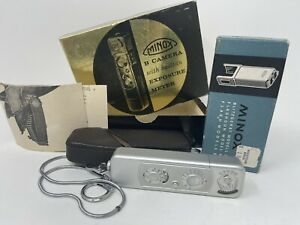 Minox B Spy Camera With Case And Chain And Flash