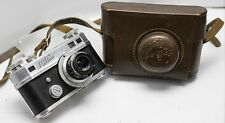 Rare - Perfex De Luxe 35mm Film Rangefinder Camera w/ Wollensak 50mm F2.8 Lens