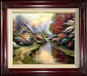 """Thomas Kinkade """"A Quiet Evening"""" Limited Edition 20"""" x 24"""" Canvas (Framed)"""