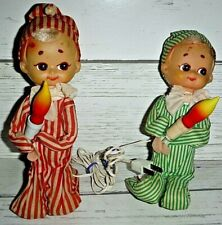 2 Vintage Christmas Knee Hugger Elf Pixie Lights Japan