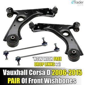 VAUXHALL CORSA D  06-TWO WISHBONE ARMS 2 INNER /& OUTER TRACK ENDS /& 2  LINKS