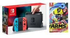 NINTENDO SWITCH JOY-CON BLU/ROSSO + ARMS