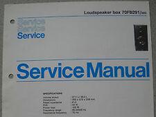 Philips 70 fb291 haut-parleur Box service feuille