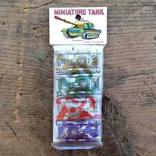 10 WHOLESALE BULK Vintage JAPAN MINI TIN LITHOGRAPH Tanks 1960s Toys DEALER DEAL