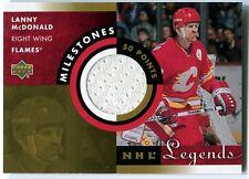 2001-02 Upper Deck NHL Legends LANNY MCDONALD Milestones Jersey Patch Rare SP