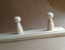 PINE WOODEN COAT RACK - 5 PEGS/HOOKS - LEAVE AS IS OR PAINT IT YOURSELF