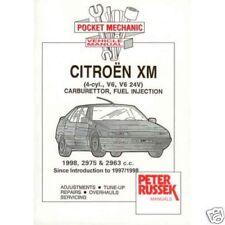 Citroen XM 4/6 cyl petrol to '94 - Russek mechanic book