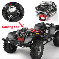 GRC V8 Simulate Engine Motor Cooling Fan Set for 1/10Crawle TRX4 SCX10 RC4WD D90