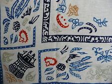 foulard vintage coton folklore