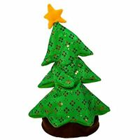 "Kurt Adler 18"" Battery-Operated Singing & Dancing Plush Christmas Tree~Animated"