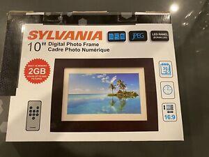 New Sylvania SDPF1089 10-Inch Digital Photo Frame New LED Multimedia