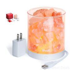 Portable Natural Himalayan Crystal Salt Lamp 2 Pounds Levoit Basin Design New