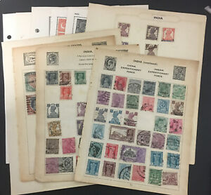 India Stamps, 1882-1957,12 Pages Of  Mint And Used Stamps
