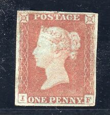 QV 1841 sg8 --1d red unplated ( I F ) unused / mint no gum.