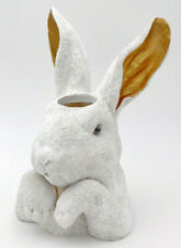 Vase Rabbit Easter Bunny Decoration Flower Table White Head Shabby