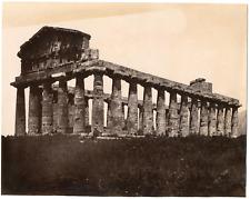 Italie, Capaccio Paestum, province de Salerne, temple d'hera   Vintage Albu