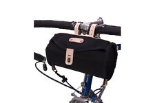 NEW Minnehaha Canvas & Leather Small Barrel Bar and Saddle Bag for Bikes