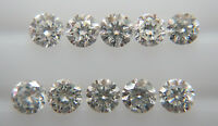 Natural Loose Brilliant Cut Diamond 10pc VS-SI Clarity H Color Brilliant Round